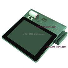DustProof wifi,gprs,3G,1D,2D,wlan handheld fingerprint identification pos device