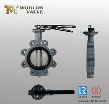 AISI standard natural rubber/X1/CR line/liner/lined/lining three-eccentric/tripple off set/tripple eccentric butterfly valve