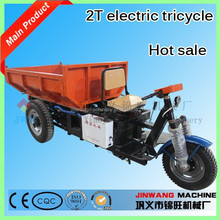 2 Ton electric motorcycle/motorcycle truck 3-wheel tricycle for cargo/tipper cargo tricycle