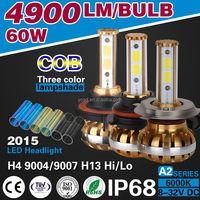 A2 COB CHIP LED 60W 6400LM 9003 CAR LED HEADLIGHT H4 9004 9007 9008 H13 HB1 HB2 HB5 CAR LED BULB