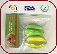 Xiamen Food grade material slide zip lock plastic bag