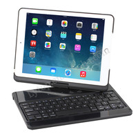 For iPad Air 2 Extranal Wireless Bluetooth Keyboard Case,For iPad 6 Leather Keyboard