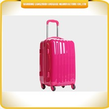 Shiny ladies ABS luggage shinning ABS hard luggage High quality ABS travel trolley luggage