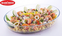 SABINEX France made pyrex oval glass baking dish bakeware baking tray