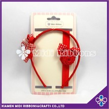 Hot Selling Christmas Hair Bow Setting With Great Riobbon Flower