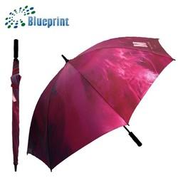 Outdoor Manual Colorful Nylon Pongee Polyester Golf Umbrella 8 Ribs