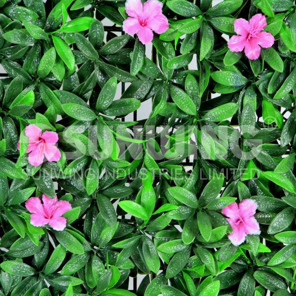 Jardines peque os con vallas de plantas artificiales - Plantas para vallas ...