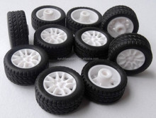 RoHS Small Rubber Wheels / Rubber Wheels For Toys / Solid Rubber Toy Wheels