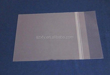 Self adhesive clear opp plastic packing bag for beads