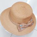 Tejido de yute banda del sombrero de paja, beige sombrero de paja ( HT-1504020019 )