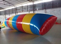 Interesting Inflatable Water Toys , Inflatable Water Blob Pillow For Adults