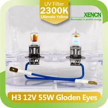 H3 2300K 12V 55W Golden Eyes Super Yellow led headlight for car