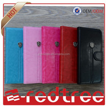the shield matel high quality pu leather cover for iphone 6, case for other mobile phone
