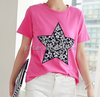 Girl's colorful five-pointed star T-shirt