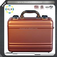 Aluminum metal attache briefcase laptop case