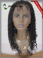 Wholesale Cheap Women Hair Indian Remy Natural Curly Lace Wigs