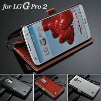Vintage wallet PU leather phone case for LG Optimus G Pro 2 stand function and bill site