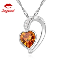 Heart crystal necklace Valentines gift