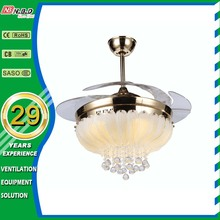 Popular 42 inch Greenhouse exhaust decorative fan ceiling with led light
