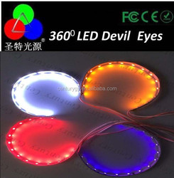 led 360 degree 3.0inch Projector LED Devil Eye for all projector lens red/blue/purple/yellow/green