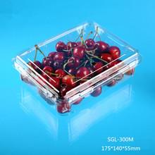 Frutas de plástico con bisagras de la tapa contenedor