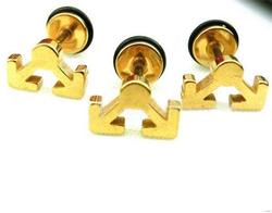 New style manufacture square stainless steel stud earrings