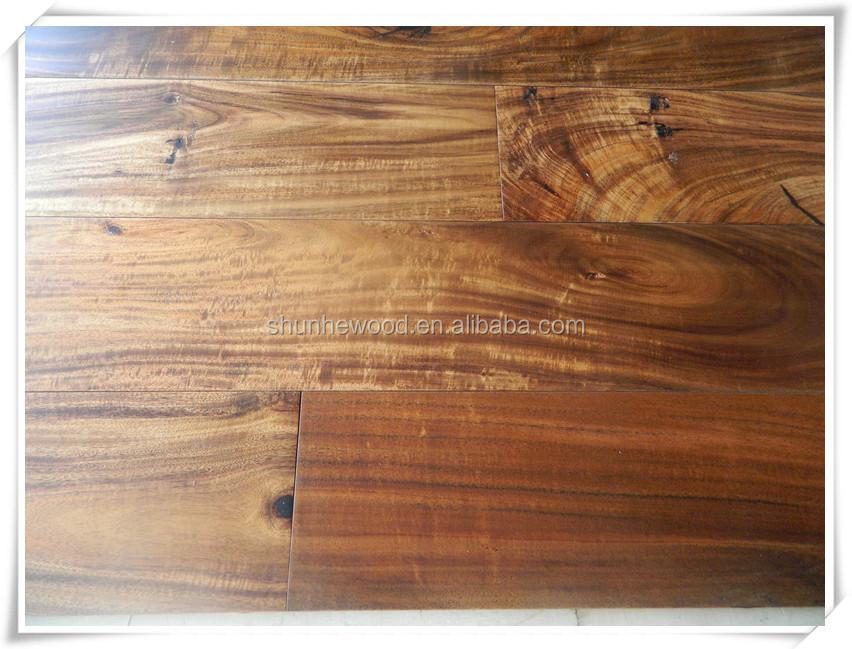Small Leaf Acacia Wood Flooring Walnut Stain Buy Solid