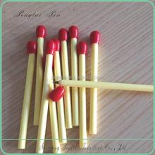 Cute novelty promotional plastic matchstick ball pen