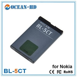 1050mah lithium ion compatible mobile phones battery for nokia bl-5ct