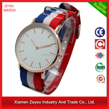 Custom logo brand couple lover wrist watch with Nylon straps