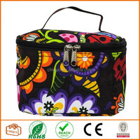 Lady Bugs Print Cosmetic Case (Brown)
