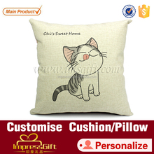 Glasses cat throw pillow decorative cushion sofa decor
