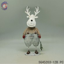 Metal elk hold Christmas tree for decoration