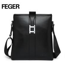 Black Cow Leather Single Strap Shoulder Bag Sling Bag For Businessman