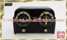 Luxury zinc alloy Vintage Radio metal table Clock
