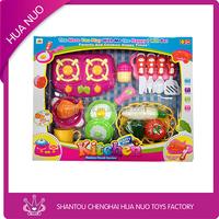 Hot selling plastic kitchen food toy set