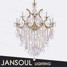 traditional wedding/bedroom/hotel decoration zhongshan new product luxury pendant light led candel holder crystal chandelier
