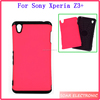 High quality 2 in 1 shockproof hybird case for sony xperia z3+,tpu+silicon phone case for sony xperia z3+