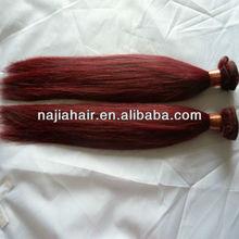 cheap hot redwine hair weave color 99j