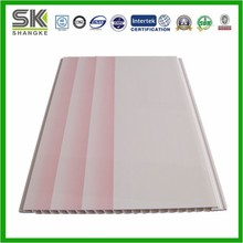 Pink PVC ceiling tile interior decoration factory for bedroom