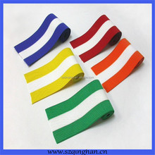 Hot sale rainbow color polyester webbing strap