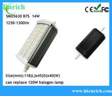 118mm 14W LED R7S lámpara Con 1300LM