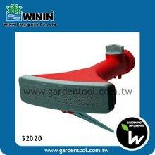 Plastic Fan Sprinkler With Metal Spike For Garden Watering
