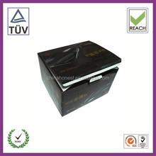 Folding toner cartridge paper boxes