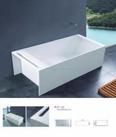 High-end Artificial stone freestanding bathtub-cast stone resin bathtub