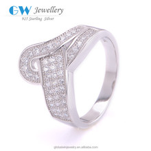 Thai Silver Natural Diamond Ring .925 Sterling Silver Genuine Ruby Ring