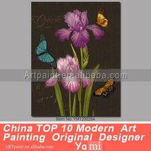 Abstracto contemporáneos flor óleos pintados a mano