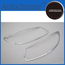 Factory price car auto exterior accessories, chrome head light cover trim for Hyundai Santa Fe 2010 Up