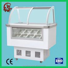 Glass sliding door ice cream chest freezer