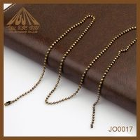 China Supplier Wholesale Antique Brass Ball Chain